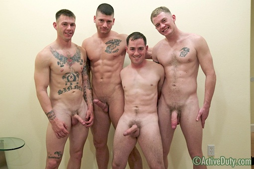 Naked army guys